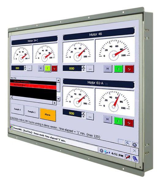 Front-right-WM 22W-VDP-OF-PRU / TL Produkt-Welten / Industriemonitor / Open Frame (Einbau von hinten) / Touch-Screen für 1-Finger-Bedienung