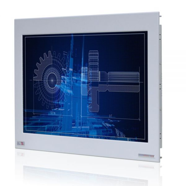 01-Front-WM22WPMA-IP65 / TL Produkt-Welten / Industriemonitor / Panel Mount (Einbau von vorne) / Touch-Screen für 1-Finger-Bedienung