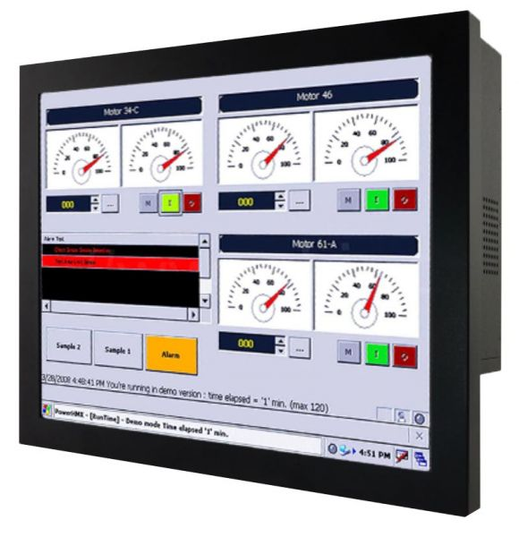 Front-right-WM 19-IB70-CH-PRS / TL Produkt-Welten / Panel-PC / Chassis (VESA-Mounting) / Touch-Screen für 1-Finger-Bedienung