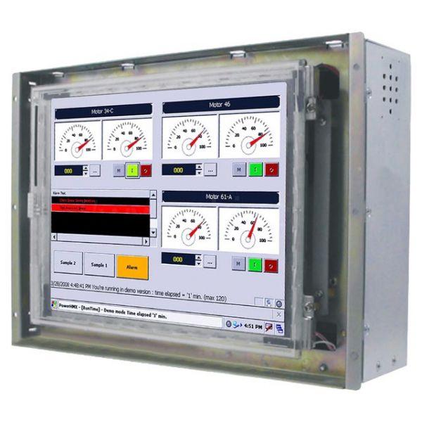 21-Front-right-R08IB3S-OFU1 / TL Produkt-Welten / Panel-PC / Open Frame (Einbau von hinten) / Touch-Screen für 1-Finger-Bedienung