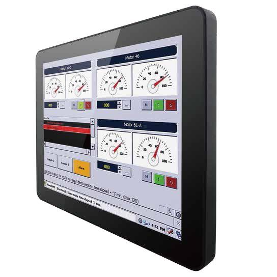 01-Front-right-10-VD-CH-MTU / TL Produkt-Welten / Industriemonitor / Chassis (VESA-Mounting) / Multitouch-Screen, projiziert-kapazitiv (PCAP)