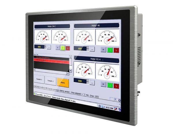 01-Front-right-R19IK3S-PPM1 / TL Produkt-Welten / Panel-PC / Panel Mount (Einbau von vorne) / Multitouch-Screen, projiziert-kapazitiv (PCAP)
