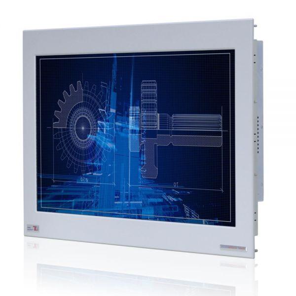01-Front-right-WM22WPMA-IP65 / TL Produkt-Welten / Panel-PC / Panel Mount (Einbau von vorne) / Touch-Screen für 1-Finger-Bedienung