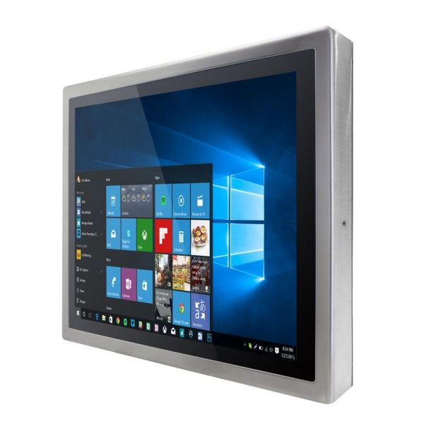 Front-right-R19IK3S-SPM1 / TL Produkt-Welten / Panel-PC / Chassis Edelstahl (VESA-Mounting) / Multitouch-Screen, projiziert-kapazitiv (PCAP)