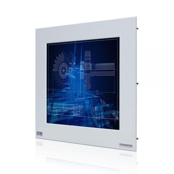 01-Front-right-WM15PMA-IP65 / TL Produkt-Welten / Industriemonitor / Panel Mount (Einbau von vorne) / Touch-Screen für 1-Finger-Bedienung