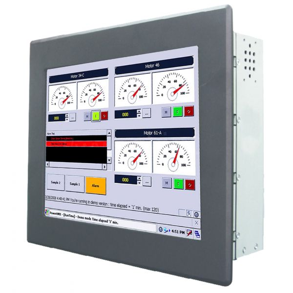 01-Einbau-Industrie-Panel-PC /  TL Produkt-Welten / Panel-PC / Panel Mount (Einbau von vorne) / Touch-Screen für 1-Finger-Bedienung (Abbildung ähnlich)