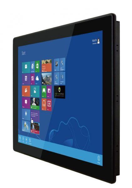 01-Front-right-R15IKWS-MHC3 / TL Produkt-Welten / Panel-PC / Panel Mount (Einbau von vorne) / Multitouch-Screen, projiziert-kapazitiv (PCAP)