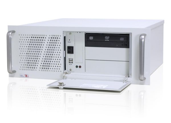 01-Front-right-CL450x / TL Produkt-Welten / Industrie-PC / 19-Zoll Rack Mount / 7 Slots (ATX Mainboard)